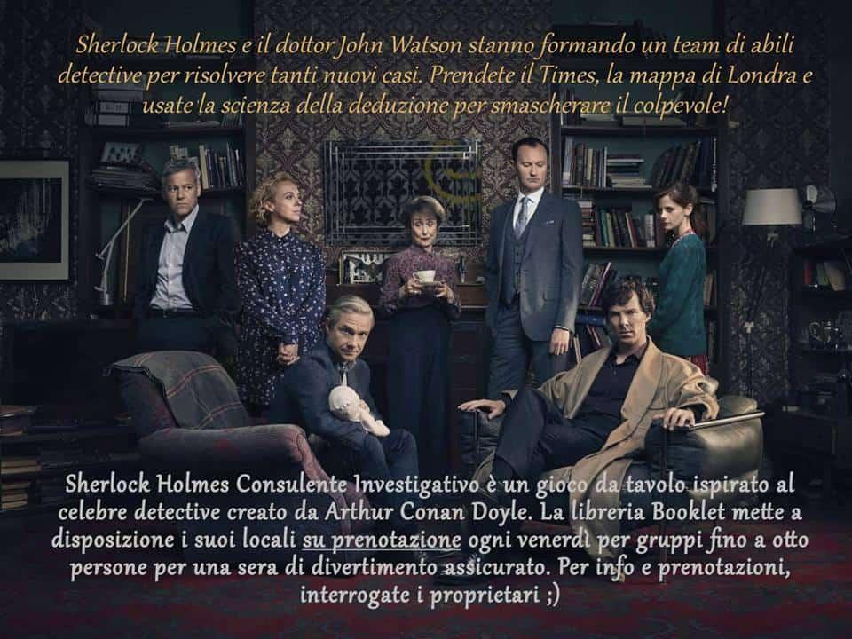 Sherlock Holmes, Consulente Investigativo @ Booklet del Delfino
