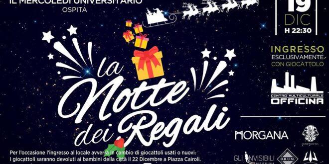 """""""La notte dei regali"""" 2018: un connubio di festa e solidarietà"""