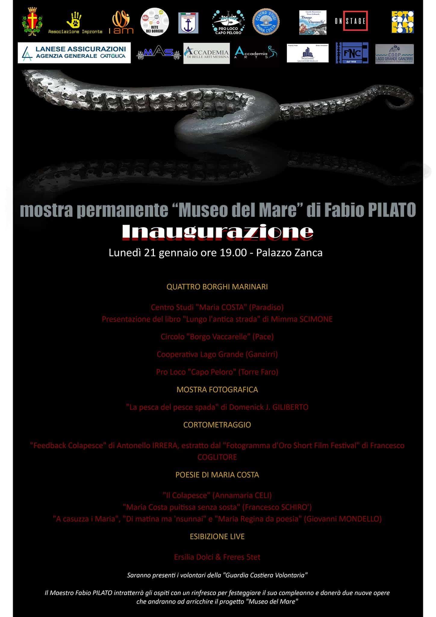Inaugurazione Museo del Mare 21/01 @ Palazzo Zanca