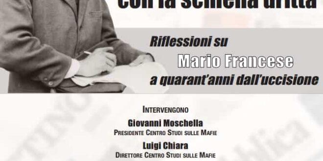 Studenti, professori e giornalisti a confronto sulla figura di Mario Francese, a quarant'anni dal suo omicidio