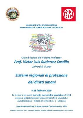 Dal 5 al 28 Feb: Ciclo seminari su Sistemi regionali di protezione dei diritti umani @ Dipartimento di Scienze Politiche e Giuridiche