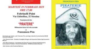 """Francesco Pira presenta """"Piraterie"""" – Riflessioni brevi di vita sociale"""