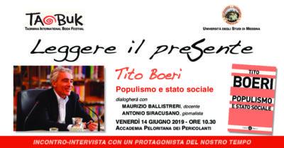 """""""Leggere il presente"""": venerdì 14 giugno incontro con Tito Boeri @ Accademia Perolitana dei Pericolanti"""