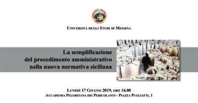 """Incontro sul tema """" La semplificazione del procedimento amministrativo nella nuova normativa siciliana"""", ospiti gli Assessori regionali Grasso e Armao @ Accademia Peloritana dei Pericolanti"""