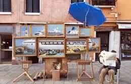 Banksy strega Venezia