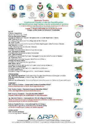 GIORNATA MONDIALE DELLA LOTTA ALLA DESERTIFICAZIONE ED AI CAMBIAMENTI CLIMATICI, SEMINARIO A FLORESTA @ Palazzo Landro-Scalisi