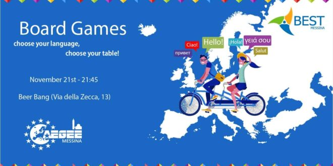 Board Games: choose your language, choose your table!