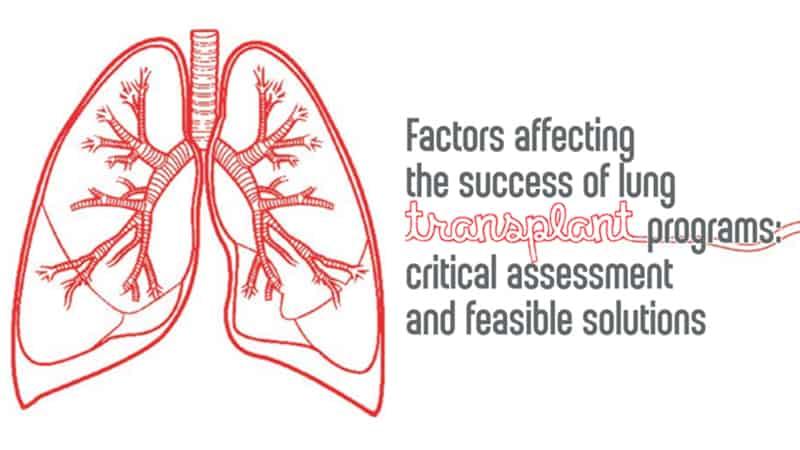 Grafica di presentazione del workshop trapianto polmonare