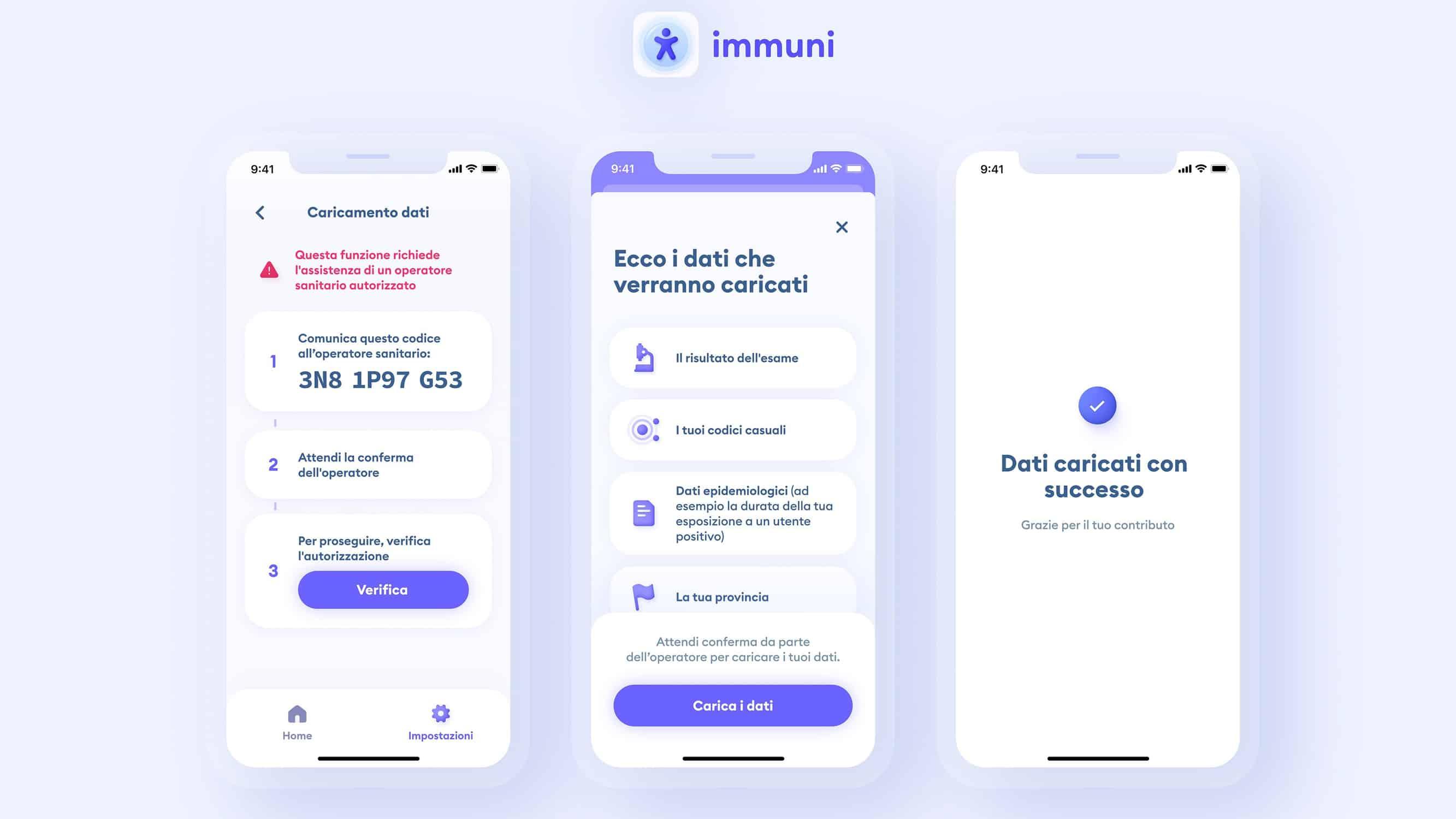 L'App richiede la presenza di un operatore sanitario