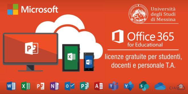 UniMe al passo: Office 365 (e non solo) offerto gratuitamente