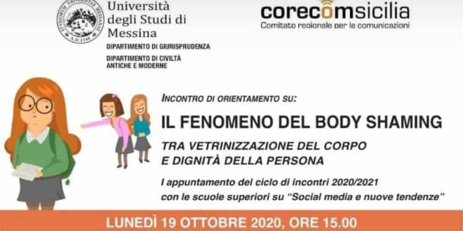 "Webinar UniMe: ""Il fenomeno del body shaming"""