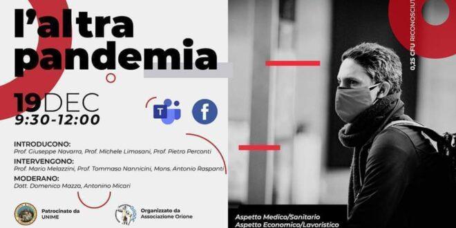 """Webinar """"L'altra Pandemia"""": la testimonianza dell'Associazione Orione"""