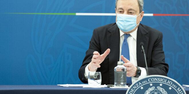 Conferenza stampa Draghi: riaperture dal 26 aprile e debito buono per ripartire