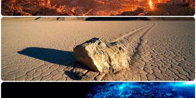 Quali verità scientifiche si celano dietro fiamme infernali, pietre mobili e mari luccicanti?
